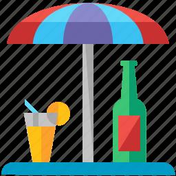 beverage, drink, parasol, terrace, umbrella icon