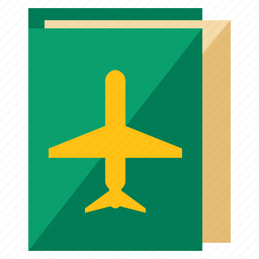 booklet, holiday, plane, ticket, travel icon