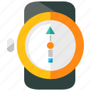 compass, equipment, holiday, time, travel, watch icon