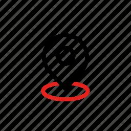 land, location icon