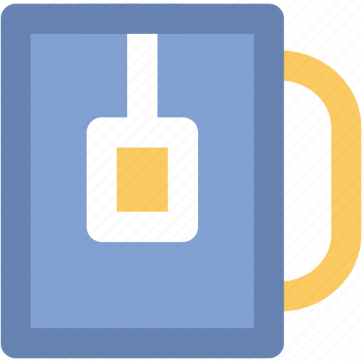beverage, hot drink, instant tea, tea bag, tea cup, tea mug icon