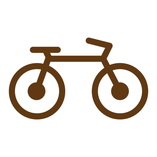 bicycle, solid, tourism, travel icon