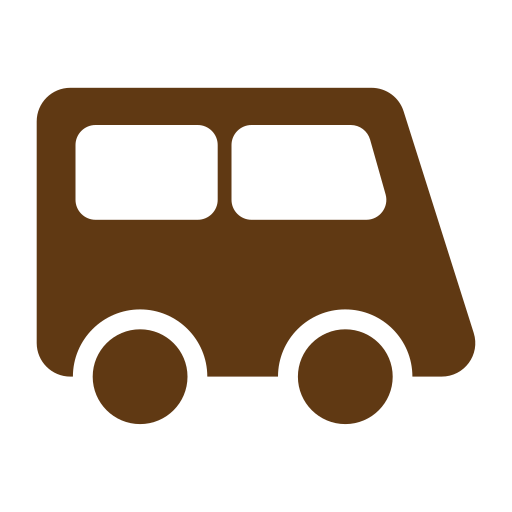 bus, solid, tourism, travel icon