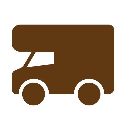 Solid, tourism, travel, truck icon - Free download