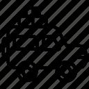 icon, line, car, vehicle, transport, transportation, travel, automobile, bag