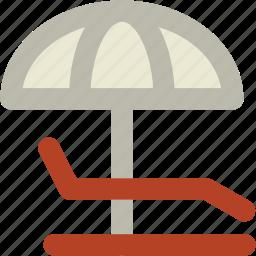 beach, parasol, sun tanning, sunbathe, tanning, umbrella icon