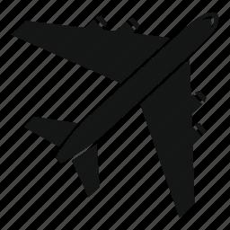 air, aircraft, airplane, flight, plane, transportation, wing icon