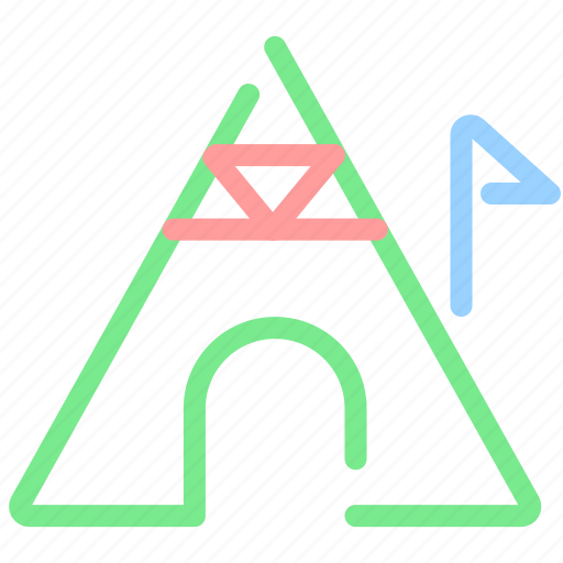 camp, campfire, camping, tent icon