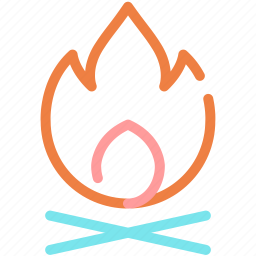 burn, campfire, fire, flame, hot icon