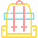 backpack, camping, rucksack, trip icon
