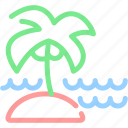 palm tree, sea, summer, vacation icon