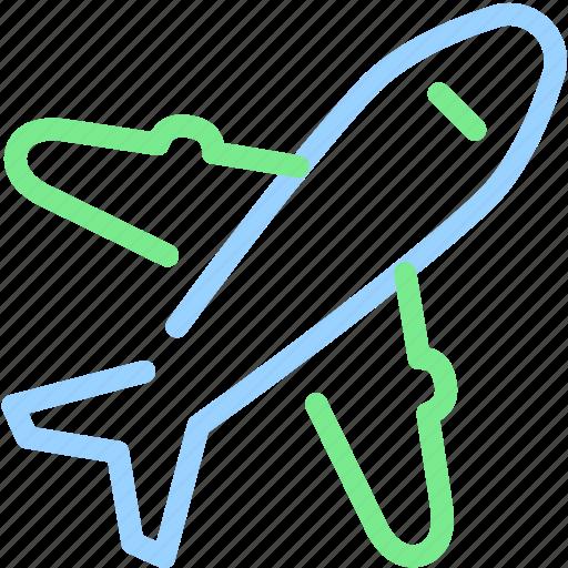 airplane, plane, transport, world icon