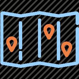camping, location, map, navigation, pin, trip icon