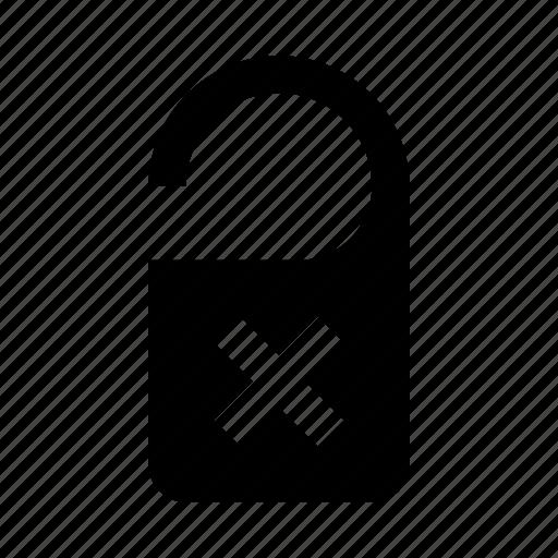 delete, hotel, label, remove icon