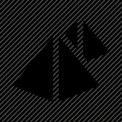 egypt, pyramids, travel icon