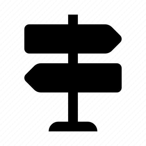 arrow, direction, road, sign icon