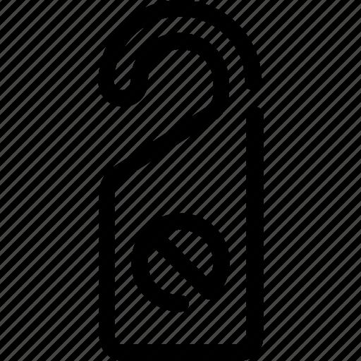 door, holidays, hotel, room, tag, vacation icon