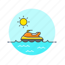 jet, sea, ski, summer, sun, travel, vehicle, water icon