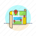 location, map, travel icon