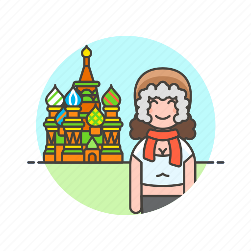 basil's, cathedral, moscow, saint, sightseeing, travel, vacation, woman icon