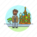 basil's, holiday, man, moscow, saint, sightseeing, travel, vacation icon