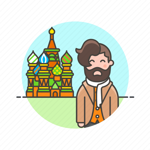 basil's, cathedral, holiday, man, moscow, saint, travel, vacation icon