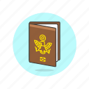 control, document, holiday, passport, personal, travel, vacation icon