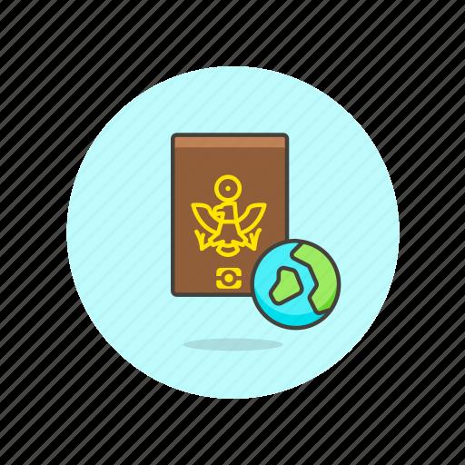 earth, globe, holiday, passport, travel, vacation, world icon