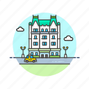 building, holiday, hotel, luxury, plaza, travel, vacation icon