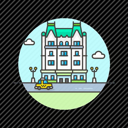 building, holiday, hotel, luxury, plaza, travel, vacation icon