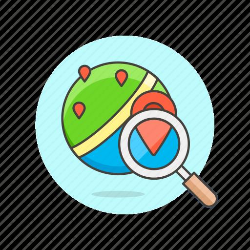 globe, gps, location, map, navigation, pin, search, travel icon