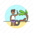beach, holiday, man, picture, selfie, summer, travel, vacation icon