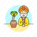 charmer, snake, travel, animal, exotic, flute, man, music