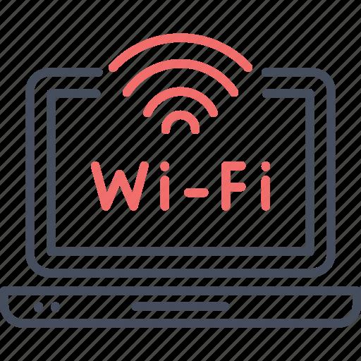 connection, internet, laptop, wi-fi, wifi, wireless icon