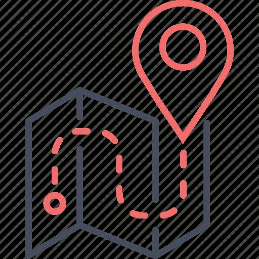 flight, journey, location, map, travel, trip icon