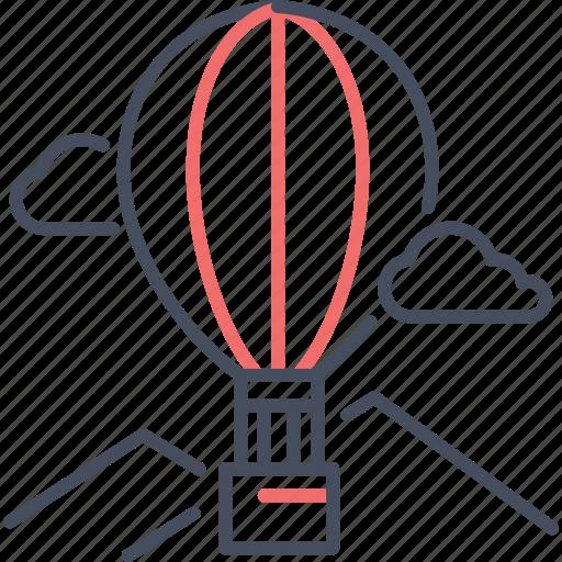 air, balloon, happy, transport, travel icon