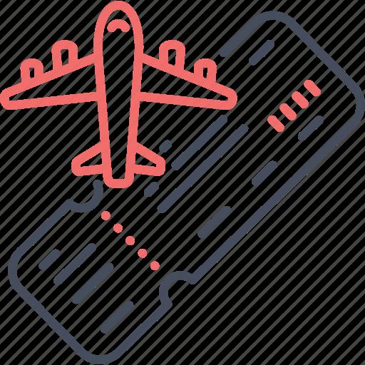 airplane, flight, fly, plane, ticket, travel icon
