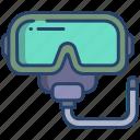snorkeling, mask