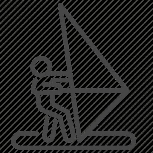 activity, recreation, sail, sailboat, travel, vacation, windsurf icon