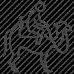 activity, camel, recreation, riding, travel, vacation icon