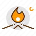 adventure, campfire, camping, fire, scout, travel icon