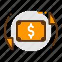 change, changer, current, dolar, money, pound, travel icon