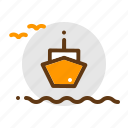 adventure, camping, sail, sea, ticket, travel icon