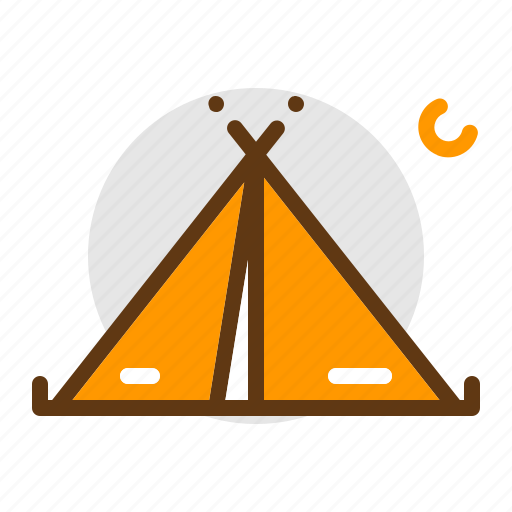 adventure, camp, camping, scout, tent, travel icon