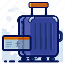 airport, baggage, luggage, suitcase, tag, ticket icon