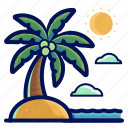 holiday, island, location, travel, vacation icon