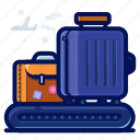 airport, bag, baggage, luggage, suitcase icon