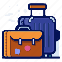 airport, bag, baggage, case, luggage, suitcase icon