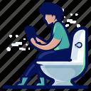 bathroom, man, public, toilet icon