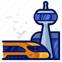 airport, train, transportation, travel icon